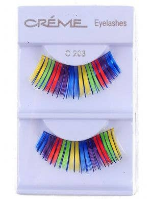 Rainbow Glitter Accent False Eyelashes