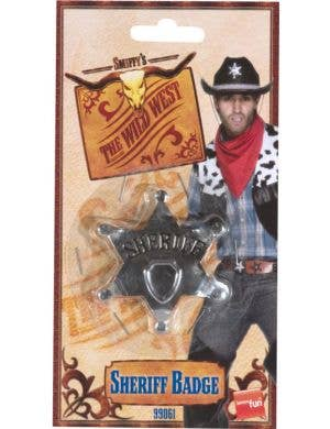 Wild West Cowboy Novelty Star Badge Costume Accessory