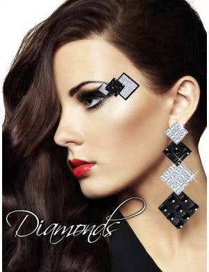 Diamond Earrings Stick On Makeup