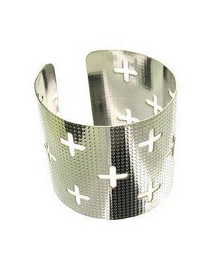 Silver Cross Adult's Wrist Cuff Costume Accessory