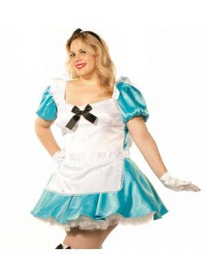 Satin Plus Size Alice in Wonderland Costume
