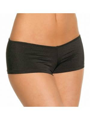 Lycra Women's Black Booty Shorts