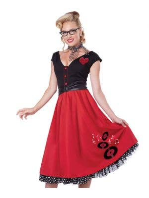 Rock n' Roll Sweetheart Women's 50's Costume