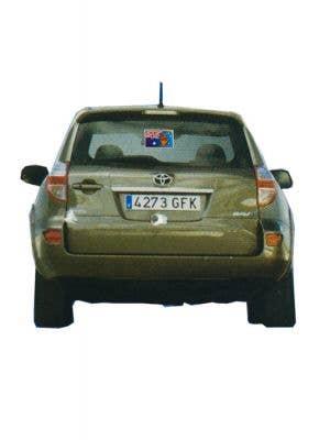 Boxing Kangaroo Australian Flag Car Sticker