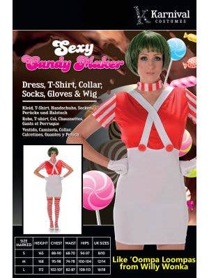 Candy Maker Sexy Women's Oompa Loompa Costume