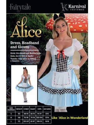 Tea Party Women's Alice In Wonderland Costume