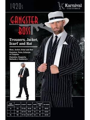Gangster Boss Men's 1920's Pinstripe Costume