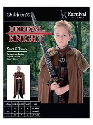 Medieval Knight Boys Book Week Costume