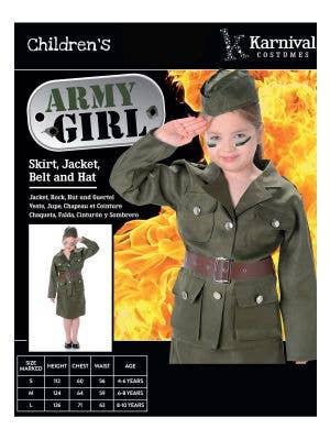 Vintage Army Girl Book Week Costume