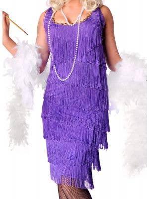 Long Purple Women's 1920's Flapper Costume