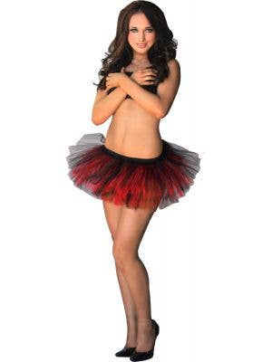 Adorable Fluffy Tutu Skirt in Red and Black