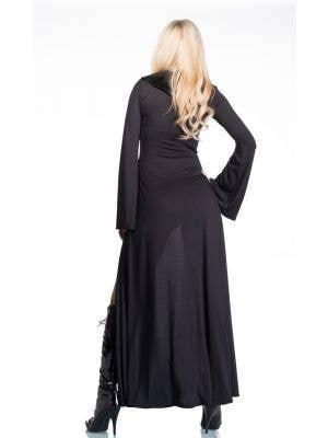 Gothic Medieval Black Robe Halloween Costume