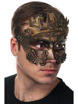 Centurion Antique Bronze Men's Masquerade Mask