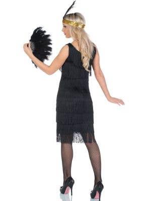 1920's Miss Millie Long Black Flapper Costume