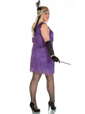 Speakeasy Plus Size 1920's Purple Flapper Costume