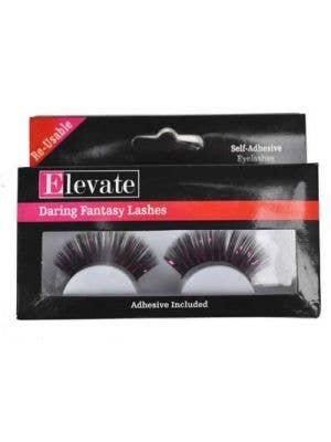 Tinsel Black and Pink False Eyelashes