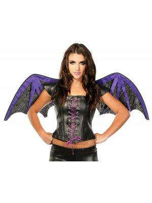 Gothic Halloween Bat Wings and Top Set