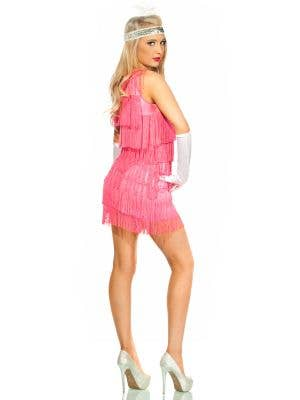 Roaring 20's Women's Sexy Pink Flapper Costume
