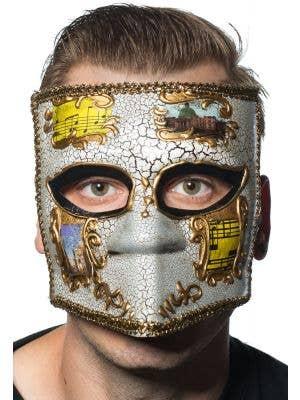 Medieval Men's Masquerade Mask - Gold