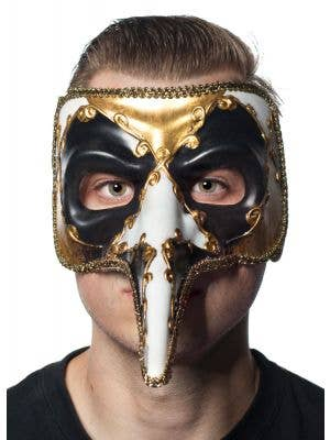 Long Nose Men's Venetian Jester Masquerade Mask