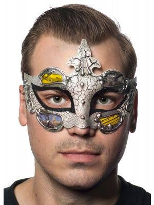 Baroque Men's Black Masquerade Mask