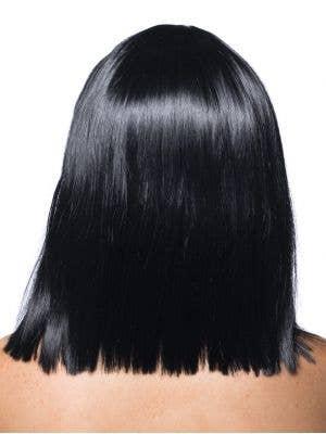 Deluxe Crystal Black Bob Costume Wig