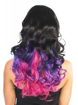Ada Deluxe Black and Purple Curly Fashion Wig