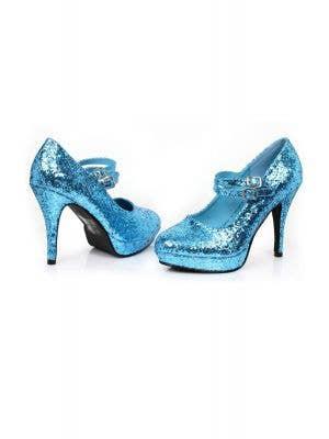2eda1f4612f Cinderella Blue Glitter Women s Stiletto Costume Heels Cinderella Blue Glitter  Women s Stiletto Costume Heels