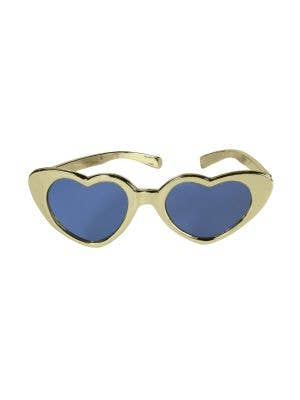 XLarge Heart Shaped Sunglasses - Gold