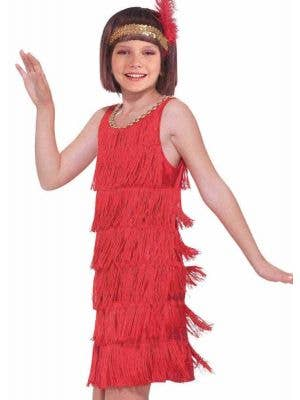 1920's Red Flapper Girls Costume