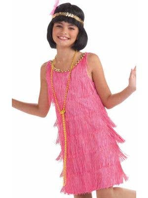 1920's Pink Flapper Girls Costume