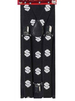 Gangster Dollar Sign Suspenders
