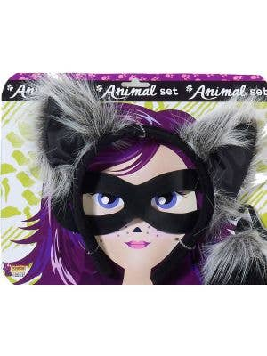 Raccoon Ears, Mask & Tail Accessory Set