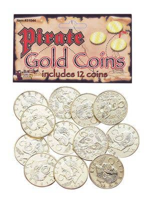 Gold Coins Pirate Costume Accessory