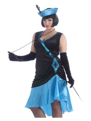 Betty Blue Plus Size 1920's Flapper Costume