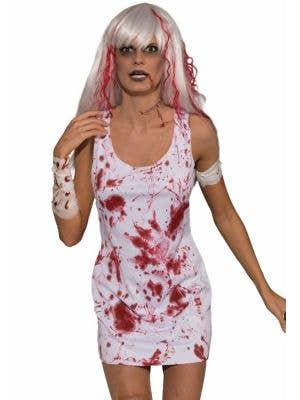Blood Splattered Women's Zombie Halloween Costume