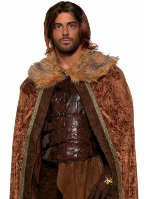 Medieval Men's Brown Costume Cape