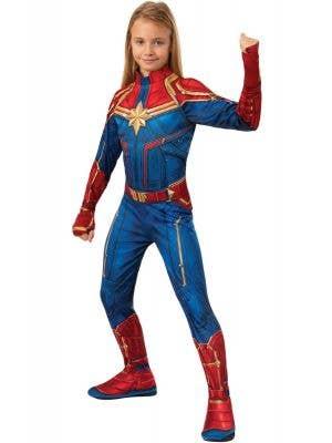 Captain Marvel Avengers Girls Superhero Fancy Dress Costume