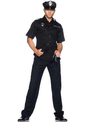 Policeman Deluxe Men's Fancy Dress Costume