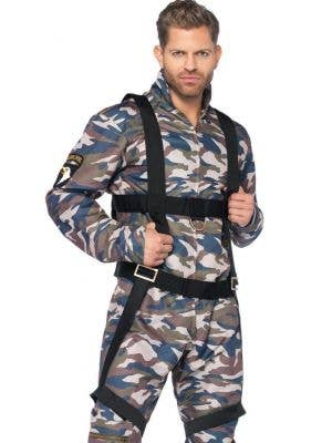 Camouflage Paratrooper Jumpsuit Men's Costume