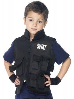 SWAT Officer Boys Fancy Dress Costume