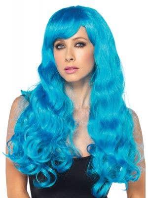 Starbright Long Wavy Women's Blue Costume Wig