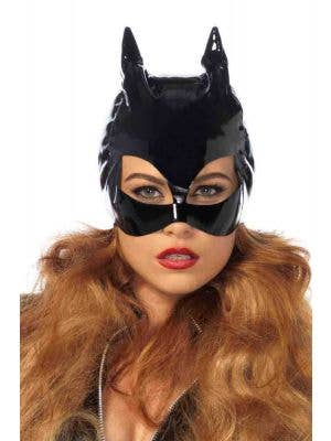Catwoman Sexy Black Vinyl Face Mask