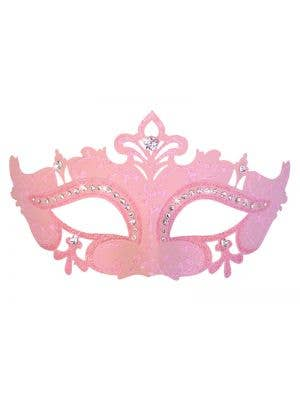 Cut Out Rhinestone Masquerade Mask in Pink