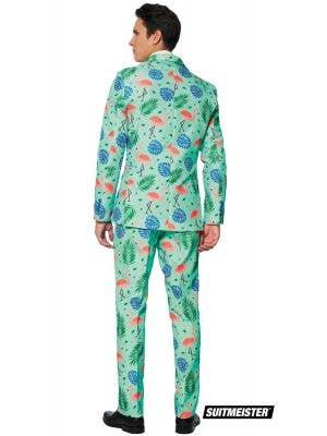 Suitmeister Blue Tropical Print Men's Novelty Suit