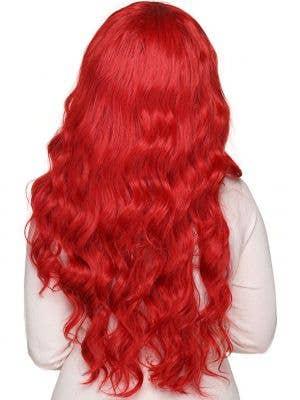 Classic Crimson Red Deluxe Women's Wavy Wig
