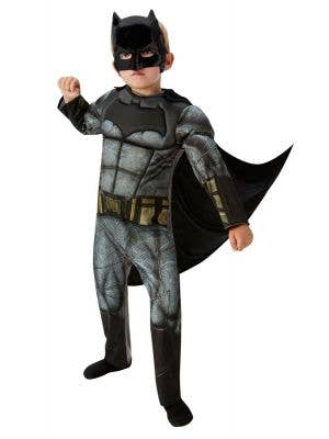 Dawn of Justice Boy's Deluxe Muscle Chest Batman Costume