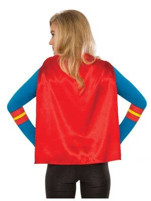 Supergirl Women's Costume T-Shirt with Cape