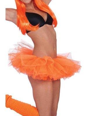 Neon Orange Women's 1980's Costume Tutu