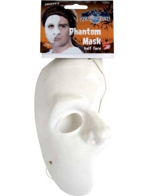 Phantom Of The Opera White Half Face Mask
